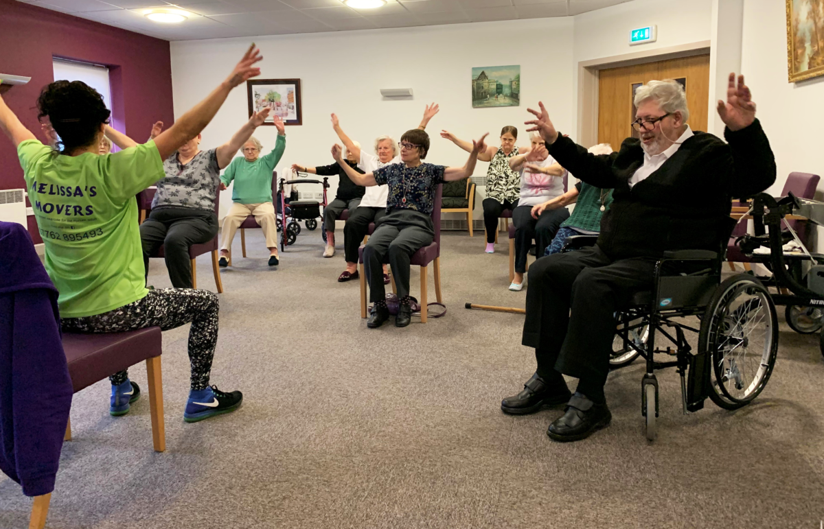 Chair exercise classes start in one of our Independent Living Schemes featured image